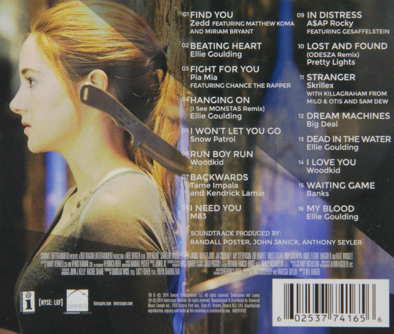 Image - Divergent Soundtrack track listing.jpg   Zedd Wiki ...
