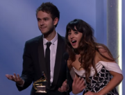 Zedd and Foxes at the 2014 GRAMMYs