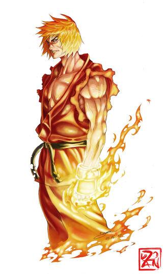 Ken Masters Shoryuken by Dzoan