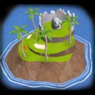 Isla cabeza de piedra