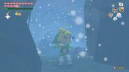 Link atravesando la ráfaga de aire en TWW HD