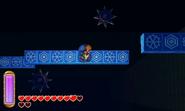 Link escapando de dos trampas ALBW