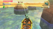 Skyward Sword Skipper's Motorboat Aiming the Motorboat's Cannon