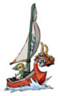 Link and King of Red Lions Sticker