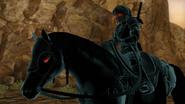 Link Oscuro montando a Epona
