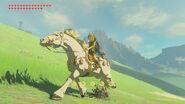 Link cabalgando el caballo blanco