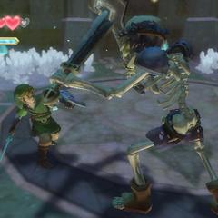 Link combatte contro uno Stalfos