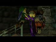 Link y vendedor de La Máscara Feliz