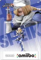 Embalaje americano del amiibo de Sheik - Serie Super Smash Bros.