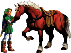 Link und Epona (Ocarina of Time)