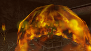 Link usando Fuego Din