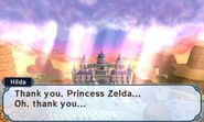 Princess Hilda thanks Princess Zelda