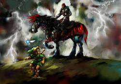 Junger Link und Ganondorf