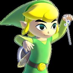 Link usa la Bacchetta dei venti
