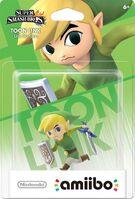 Embalaje americano del amiibo de Toon Link - Serie Super Smash Bros.