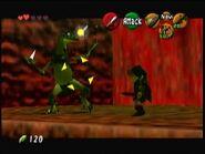 Lizalfos ocarina of time 2nd dungeon mini boss legend of zelda N64