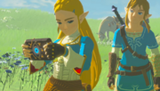 Breath of the Wild Sheikah Technology Sheikah Slate (Princess Zelda, Link, & Royal White Stallion - Recovered Memory - cutscene)