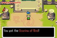 Link consiguiendo la Ocarina de los Vientos TMC