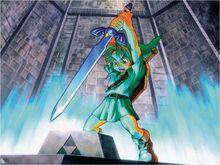 Link retirant l'Épée de Légende