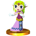Zelda cartoon trophée ssb4