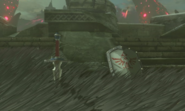 Breath of the Wild Hyrule Castle Town Ruins (Centrel Square) Knight's Broadsword & Knight's Shield (Central Hyrule)