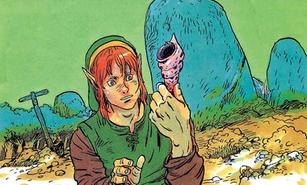 Link encuentra una Caracola Secreta