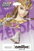 Embalaje japonés del amiibo de Zelda - Serie Super Smash Bros.