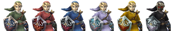 Link Palette Swaps (Super Smash Bros. Brawl)