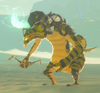 File:Breath of the Wild Lizalfos (Yellow) Electric Lizalfos.png