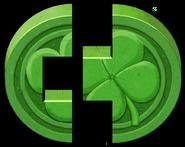 Artwork piezas Piedra Suerte verde