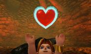 Link consiguiendo un Contenedor de Corazón OoT 3D
