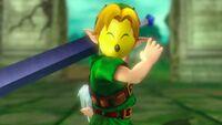Link portando la Máscara Keaton HW