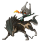 Midna and Wolf Link Sticker