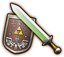 Hyrule Warriors Light Sword Hero's Sword & Hero's Shield (Level 1 Light Sword)
