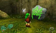 Link y Piedra Sheikah OoT