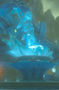 Breath of the Wild Locations Memorial Statue of Zora Princess Mipha (Zora's Domain)