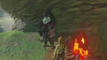 Link conociendo al anciano BotW
