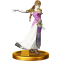 Super Smash Bros. for Wii U Trophies Princess Zelda (Classic Trophy Render)