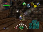 Link y una estatua de búho