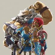 Link y los elegidos Artwork BotW