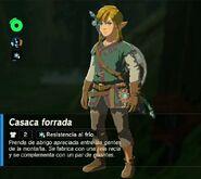 Link con la casaca forrada BotW