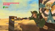 Link utilizando las zarpas SS