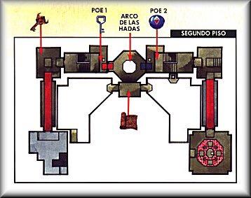 Mapa de Templo del Bosque OoT 2