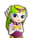 Portrait Zelda Cartoon HWL1
