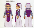 Ocarina of Time Artwork Princess Zelda - Child Era (Concept Art)