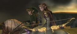 Zelda, Link y Epona TP