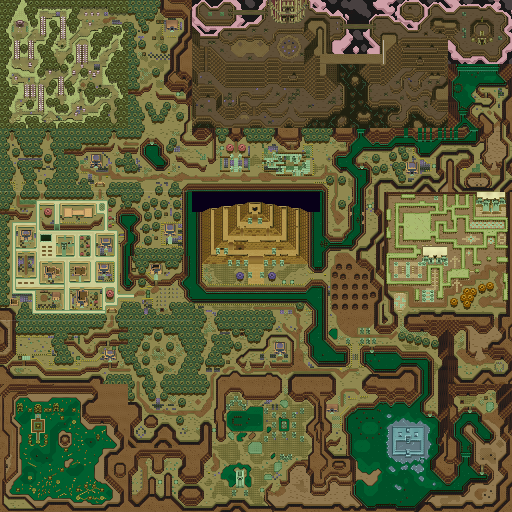 A Link To The Past Dark World Map.Dark World A Link To The Past Zeldapedia Fandom Powered By Wikia