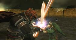 Choque espadas Link y Ganondorf TP