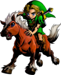 Link montado en Epona artwork MM 3D