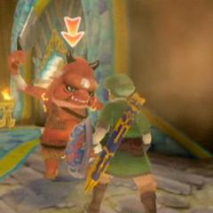 Link combatte contro un Boblin